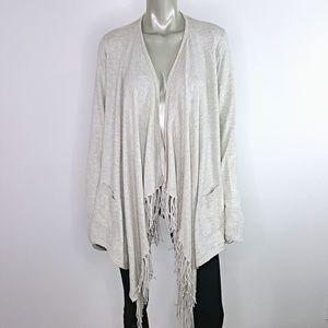 Lane Bryant Fringe Cardian Sweater Plus Size 14/16